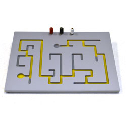 The automatic tally maze attaches to a timer / counter (not included) to record errors and time required for completion.