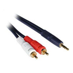 1.5ft VELOCITY 3.5mm (Stereo Male to Dual RCA Male Y-cable)