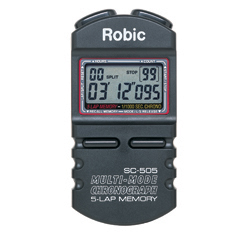 Stopwatch that features single event timing, interval (LAP) chronograph, or accumulated (SPLIT) chronograph functions.