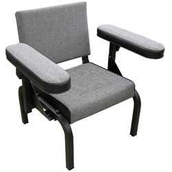 Gray / Black Adjustable Arm Subjects Chair