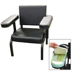 Vinyl Subject's Chair with Arm Activity Sensors only