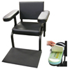 Vinyl Subject's Chair with Arm and Feet Activity Sensors