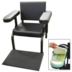 Vinyl Subject''s Chair with Arm and Feet Activity Sensors