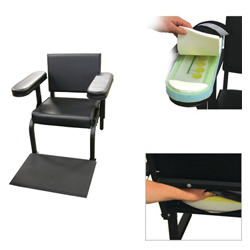 Vinyl Subject's Chair with Seat, Arm, and Feet Activity Sensors