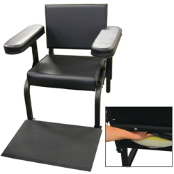 Vinyl Subject''s Chair with Seat and Feet Activity Sensors