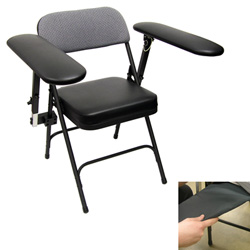 Cushioned Portable Subject's Chair with Seat Activity Sensor
