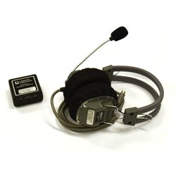 For use with the LX4000 Polygraph system, the Masseter Headphone System is designed to detect and record movements in the Masseter muscle of the mandibular region during the recording phase of a polygraph examination, sensing activities of the tongue, clenching of teeth, and other jaw-line actions.