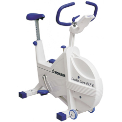 The 827E Fitness Cycle has a new softer design, a completely housed flywheel and strengthened frame.