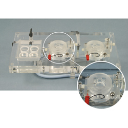 Acrylic Dual Channel Top Plate for Electrophysiology