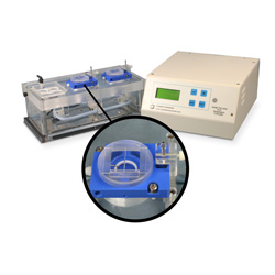 Dual Channel PTFE Chamber System for Biochemistry with heater & thermistor feedback control