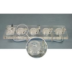Acrylic Quad Channel Top Plate for Biochemistry