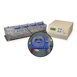 Quad channel PTFE chamber system for Electrophysiolgy with heater & thermistor feedback control