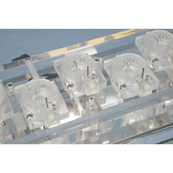 Hex channel Acrylic chamber system for Biochemistry with heater & thermistor feedback control