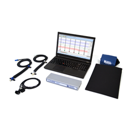 LX4000 Polygraph that includes a Polygraph DAS, Laptop, LXSoftware, Pneumo Assemblies, Cardio Cuff, Pump Bulb, EDA Assembly, Activity Sensor, and all necessary cabling.