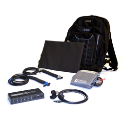 Lafayette's next generation 10-channel polygraph system with accessories.