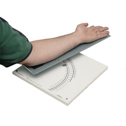 This standardized motor learning tool measures arm movement and is well suited for active as well as passive movement, or for comparing the two.