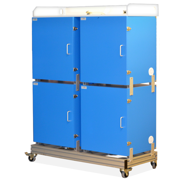 Trolley-Rack for Isolation and Faraday Cage Cubicles