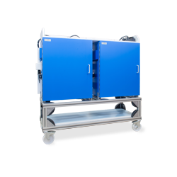 Dual Trolley-Rack for Isolation and Faraday Cage Cubicles