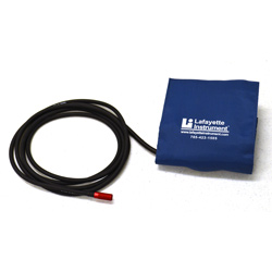 The Lafayette Instrument Company patented standard blood pressure Kovacic-style cuff for the LX5000 and newer LX4000 computerized polygraph systems eliminates problems associated with a loosely wrapped cuff and ensures that the cuff does not shift away from the brachial artery during application.
