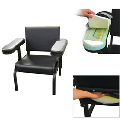 Vinyl Subject''s Chair with Seat and Arm Activity Sensors
