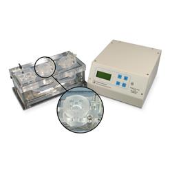 Dual channel Acrylic chamber system for Biochemistry with heater & thermistor feedback control