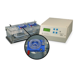 Dual channel PTFE chamber system for Electrophysiology with heater & thermistor feedback control