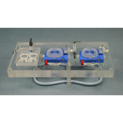 PTFE Dual Channel Top Plate for Electrophysiology