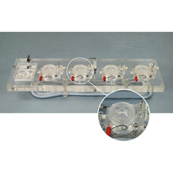 Acrylic Quad Channel Top Plate for Electrophysiology