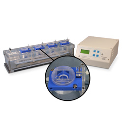 Quad channel PTFE chamber system for Biochemistry with heater & thermistor feedback control