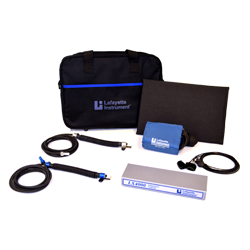 LX4000 Polygraph that includes a Polygraph DAS, LXSoftware, Pneumo Assemblies, Cardio Cuff, Pump Bulb, EDA Assembly, Activity Sensor, and all necessary cabling.