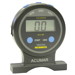 Compact, handheld unit features large digital display for easy reading. Store measurements with the hold button, and review maximum, minimum and average values.