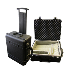 Standard rolling transport case for Polygraph Systems.
